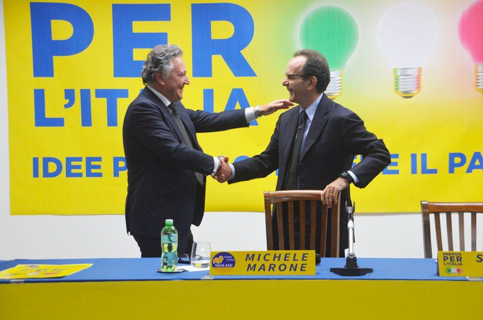 Stefano Parisi a Termoli con Michele Marone, un patto tra gentiluomini per restituire la politica ai cittadini